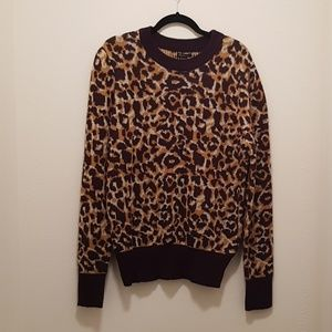NWT Who What Wear Leopard Print Sweater